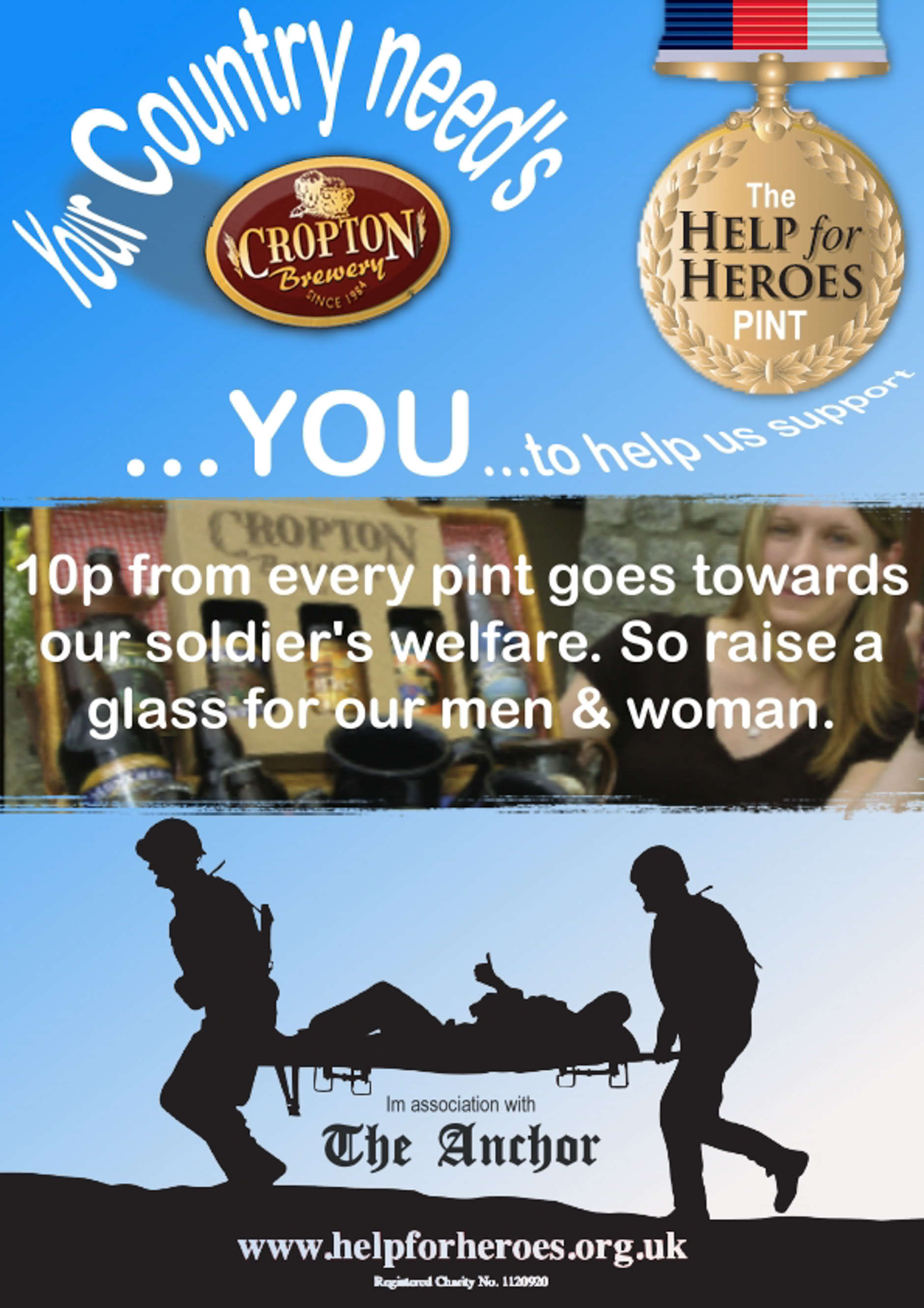 Cropton needs YOU, so Help a Hero for Help for Heroes