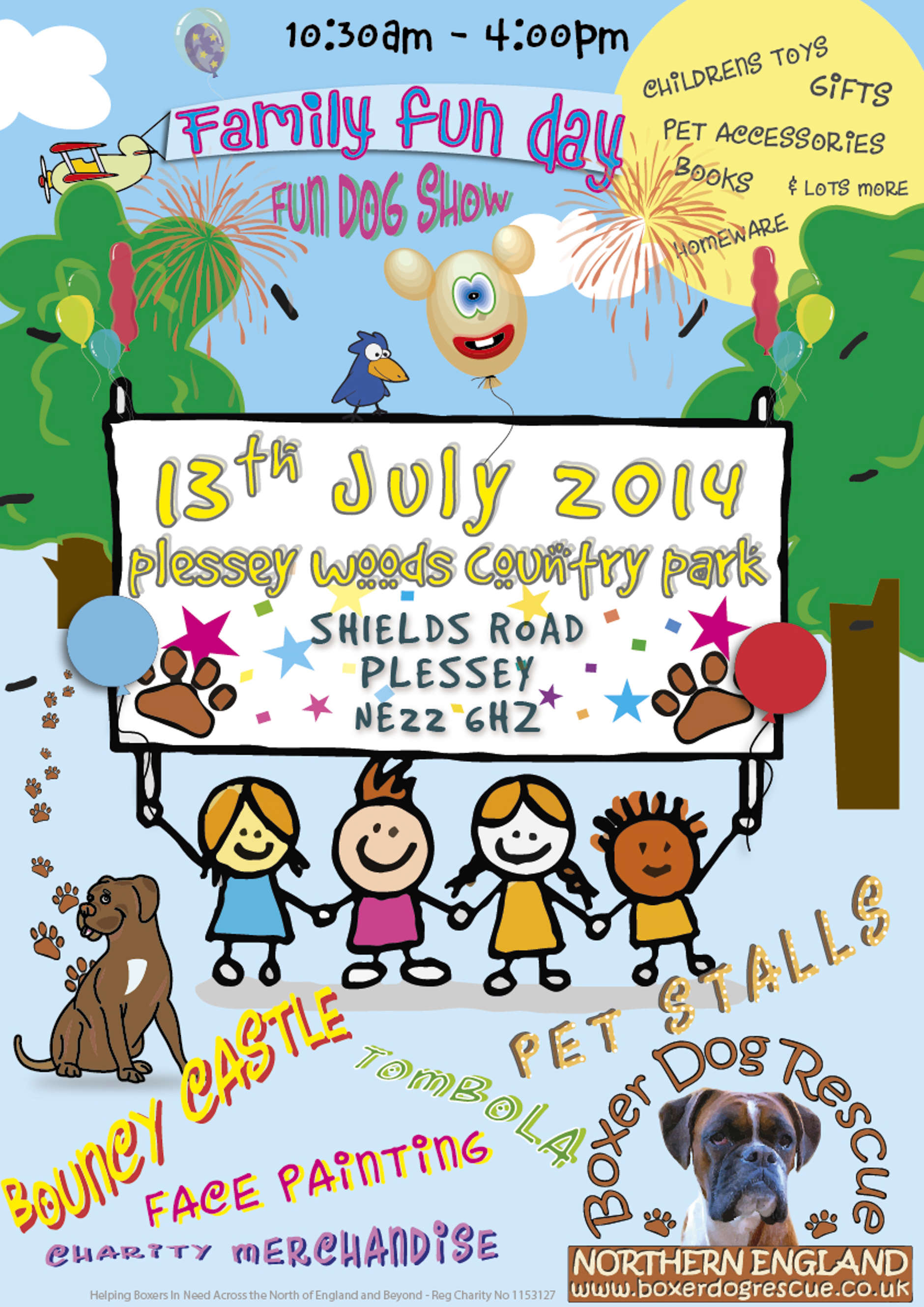 Scarisbrick & Plessey boxer dog rescue charity events