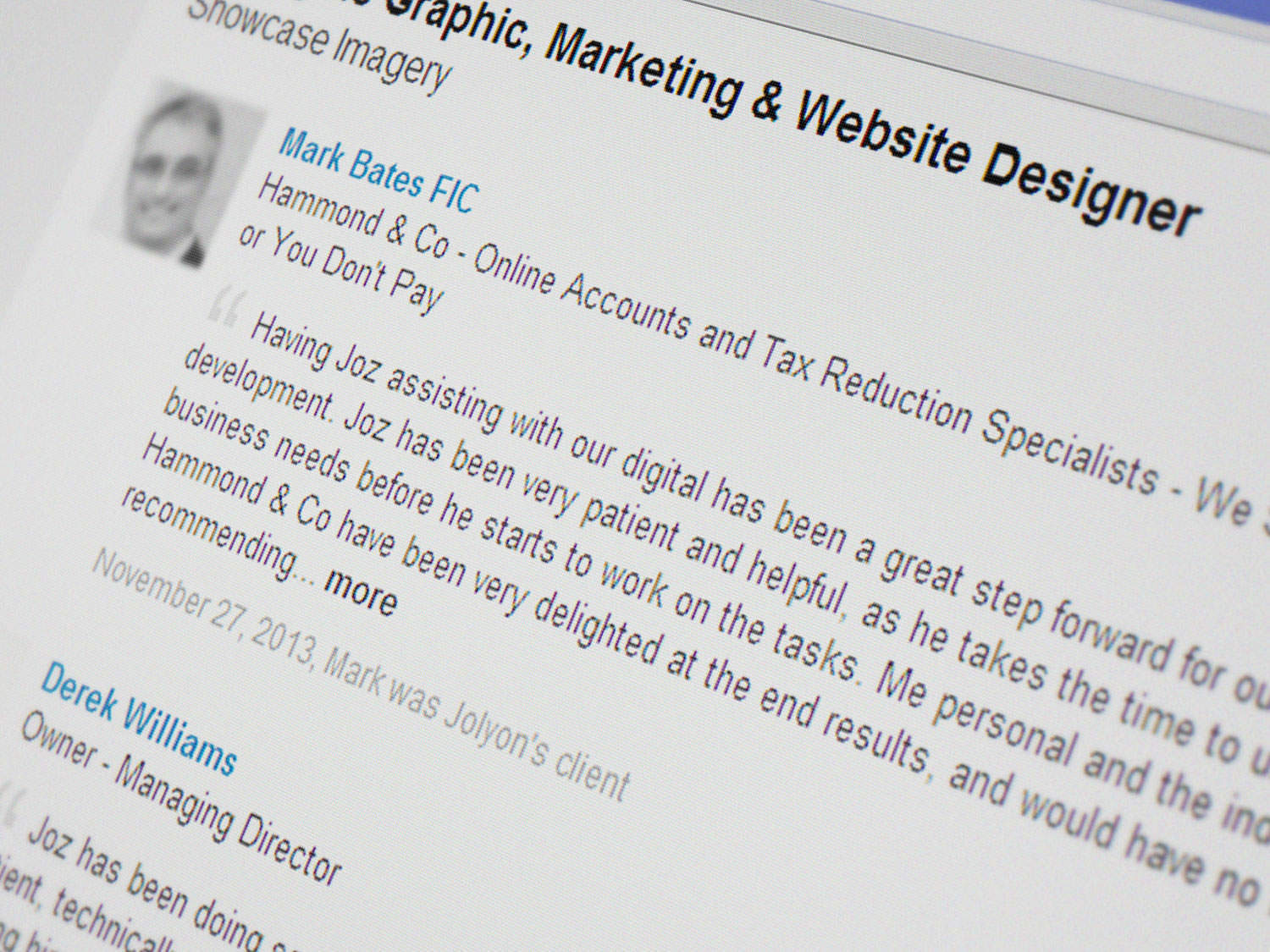 Recommendations article for LinkedIn
