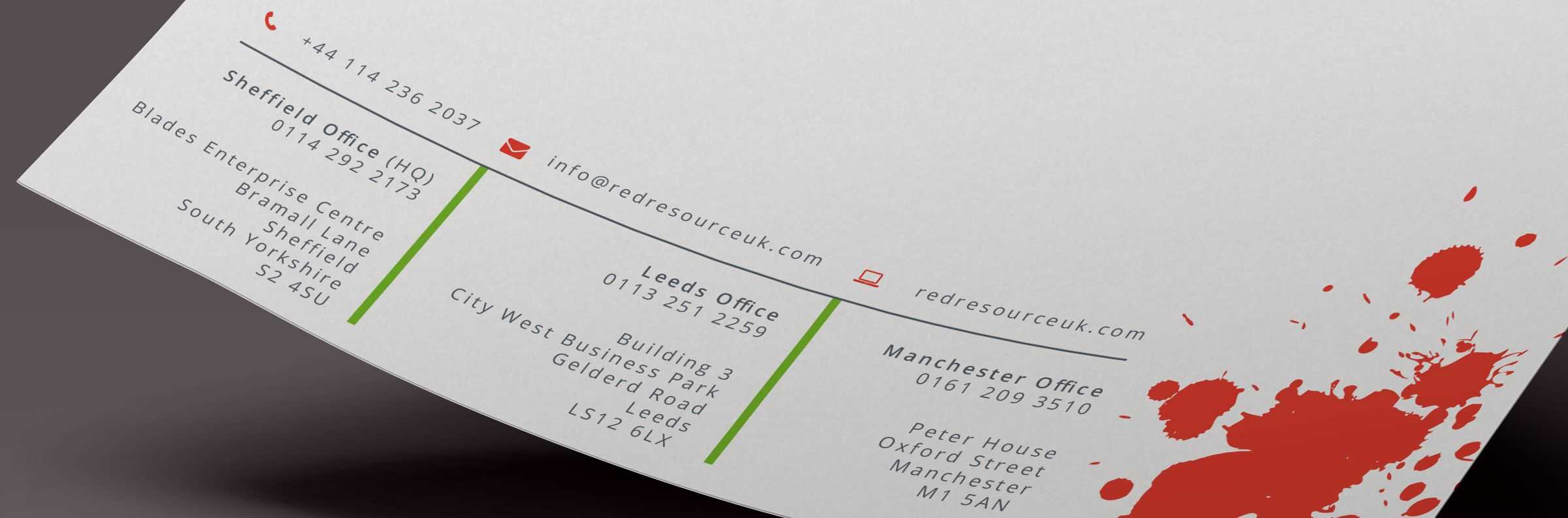 Red Resource UK Letterhead design